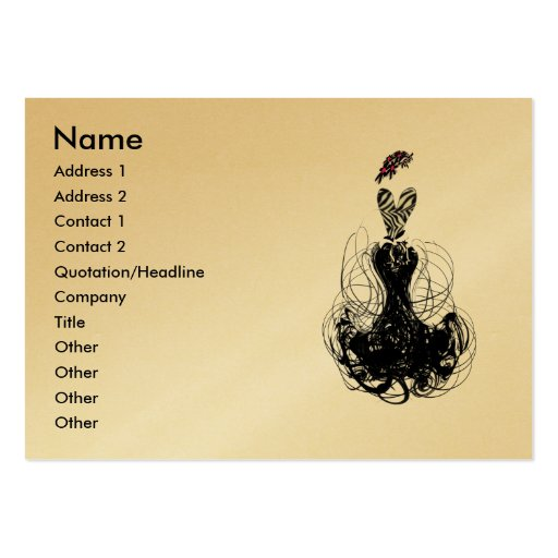 Fashion Diva - Customized Large Business Cards (Pack Of 100)