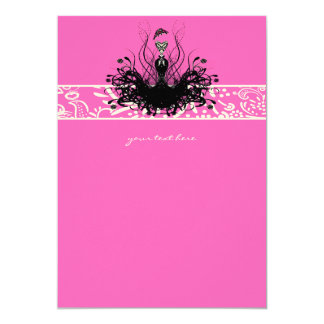 Fashion Diva Invitations, Flyers and Stickers Card