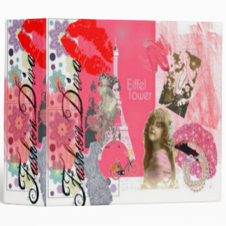 FASHION DIVA NOTEBOOK AVERY BINDER - PINK GIFTS