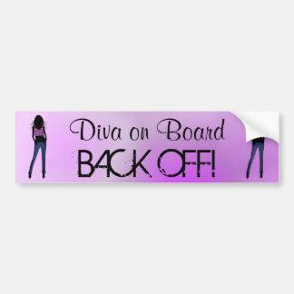 Fashion Diva on Board Back Off Bumper Sticker Car Bumper Sticker
