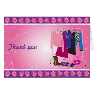 Fashion Diva Thank You Card
