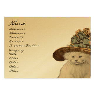 Fashion Diva Vintage Kitty Cat Business Cards
