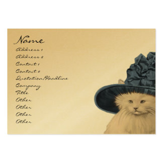 Fashion Diva Vintage Kitty Cat Business Cards Blue