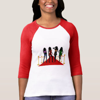 Fashion Divas Models on Red Carpet Womens T-Shirts