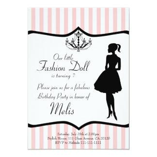 Fashion Doll Party Invitation