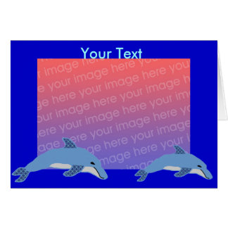 Fashion Dolphin template card