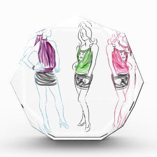 Fashion Drawing Short Skirt Women Award