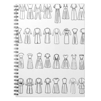 Fashion Dress backs Notebook