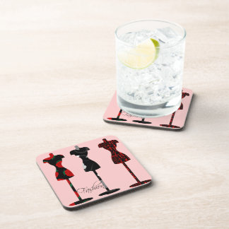 Fashion Dress Forms Beverage Coaster