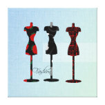Fashion Dress Forms Stretched Canvas Print