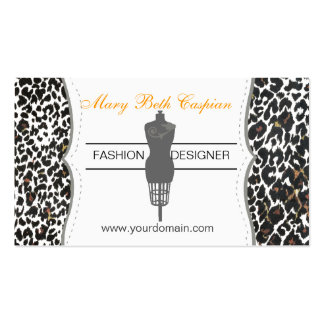 Fashion Dummy Tailoring Sewing Profile Business Card
