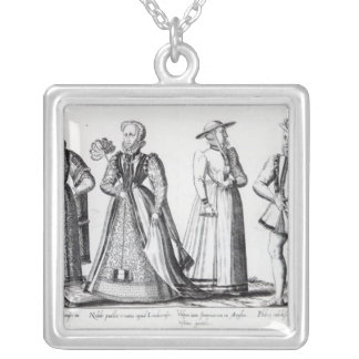 Fashion during the Tudor Period Silver Plated Necklace