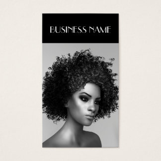 Fashion Elegant Afro Hair Business Card