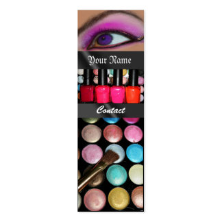 Fashion Eye Shadow Palete Make Up Artist Double-Sided Mini Business Cards (Pack Of 20)