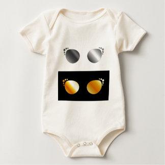 Fashion eye wear baby bodysuit