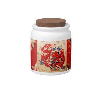 Fashion Fabric - Native Embroidery on Satin Silk Candy Dish