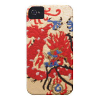 Fashion Fabric - Native Embroidery on Satin Silk Case-Mate iPhone 4 Case