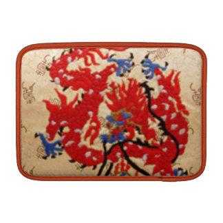 Fashion Fabric - Native Embroidery on Satin Silk MacBook Sleeves