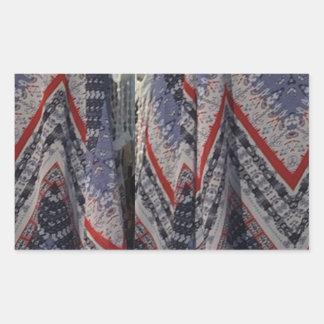 Fashion Fabric texture background diy add text img Rectangular Sticker