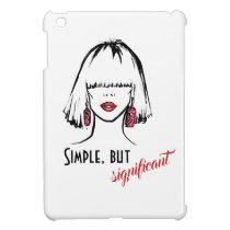 Fashion Face Fashion Illustration Case For The iPad Mini