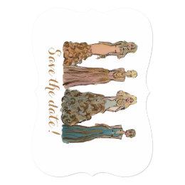 Fashion Figure Save the Date! Card