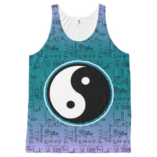 Fashion Fixation Yin Yang Ombre All-Over-Print Tank Top
