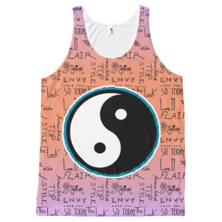 Fashion Fixation Yin Yang Ombre (cantelope) All-Over-Print Tank Top