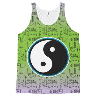 Fashion Fixation Yin Yang Ombre (mojito) All-Over-Print Tank Top