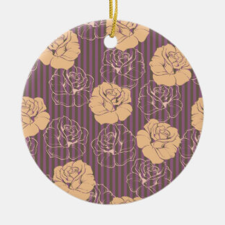 Fashion floral rose pattern christmas tree ornament
