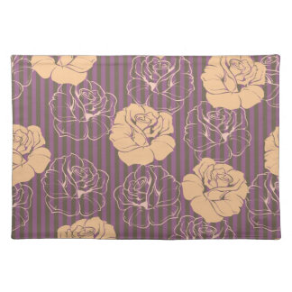 Fashion floral rose pattern place mats