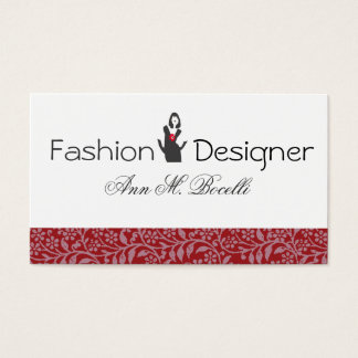 Fashion Flourished Model Fashion Consultant Business Card