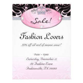 Fashion Flyer Hair Salon Jewelry Crown Pink