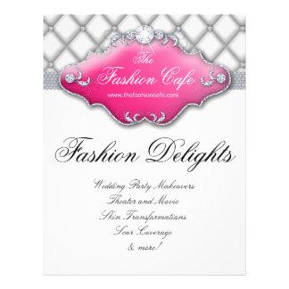 Fashion Flyer Hair Salon Satin Diamonds Pink