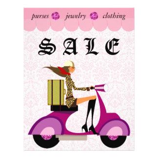 Fashion Flyer Scooter Woman Pink Damask 2