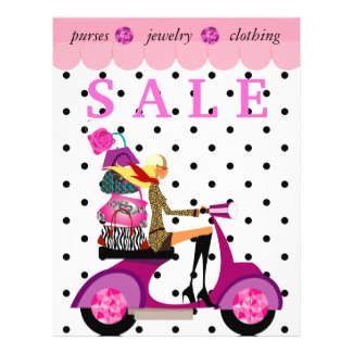 Fashion Flyer Scooter Woman Purse Handbag Dots