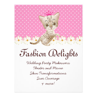 Fashion Flyer Zebra Cat Daisy Flower Pet Sitter Flyers