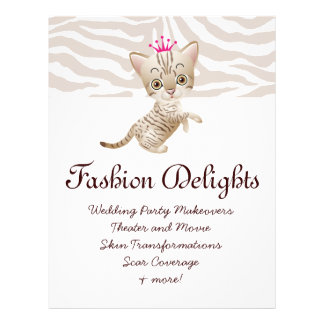 Fashion Flyer Zebra Cat Daisy Flower Pet Sitter Flyer Design