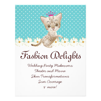 Fashion Flyer Zebra Cat Daisy Flower Pet Sitter Flyer