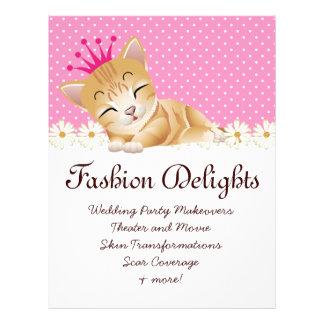 Fashion Flyer Zebra Cat Daisy Flower Pet Sitter Personalized Flyer