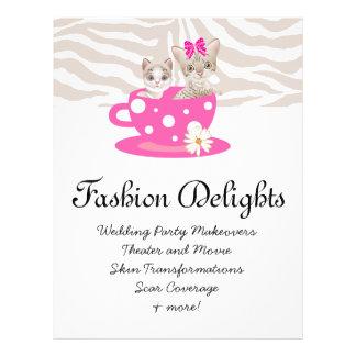 Fashion Flyer Zebra Cat Daisy Flower Pet Sitter Custom Flyer