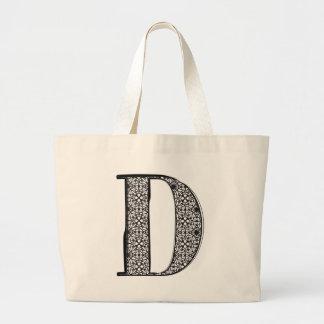 Fashion font, Letter D Jumbo Tote Bag