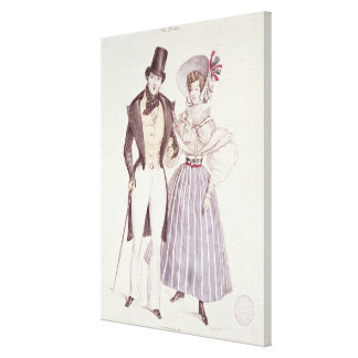 Fashion for Men and Women, 1830 Canvas Print
