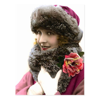 Fashion for Winter Postcard