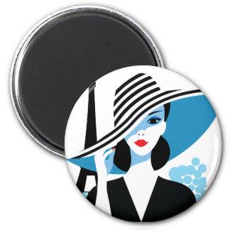 Fashion french stylish fashion chic illustration magnet