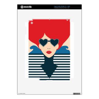 Fashion french stylish fashion chic illustration skin for the iPad 2