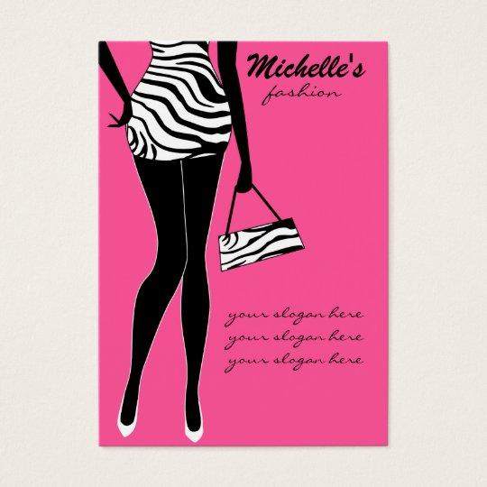 Fashion girl business card design