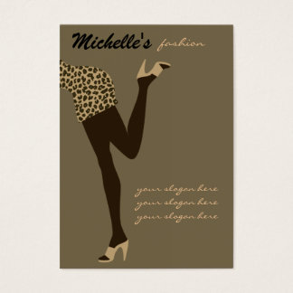 Fashion girl business card design