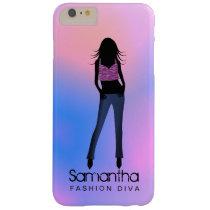 Fashion Girl Diva Blue Jeans iPhone 6 6S Plus Case