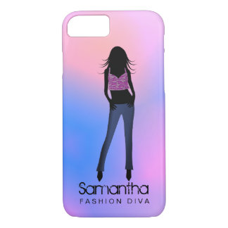 Fashion Girl Diva Blue Jeans iPhone 8/7 Case
