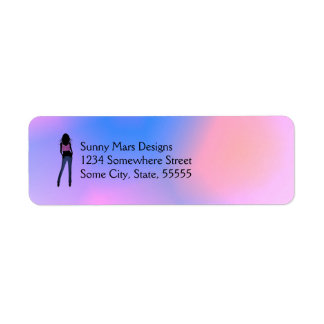 Fashion Girl in Blue Jeans Return Address Labels